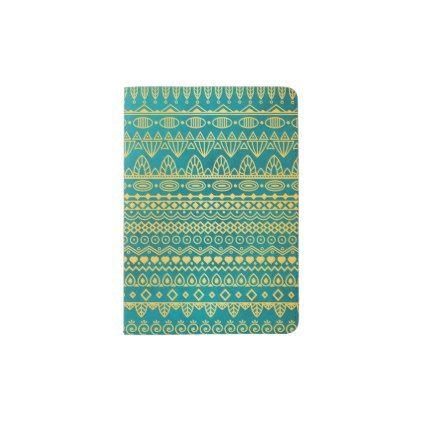 Elegant Ethnic Golden Pattern   Passport Case - elegant gifts gift ideas custom presents