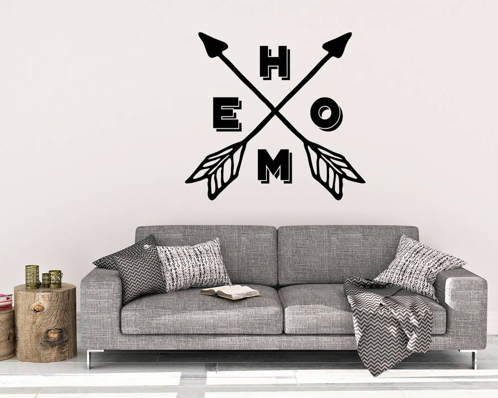 home and arrows wall decal home wall decal vinyl wall on wall stickers for home id=71351