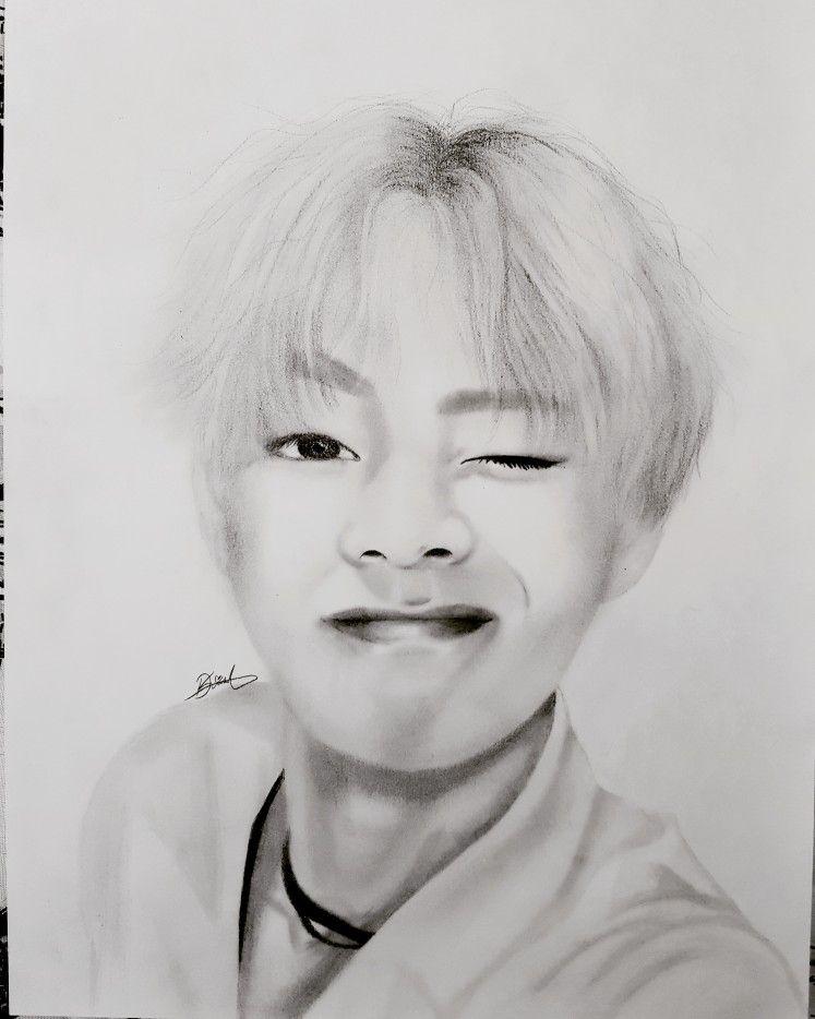 v bts kim taehyung bangtanboys art drawing bangtansonyeondan