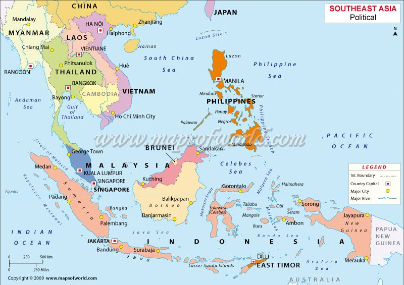 Asia Map Singapore.Malaysia Philippines Singapore Map Stupid Map Has Different Colors