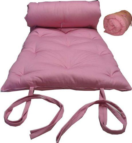 Brand New Pink Traditional Japanese Floor Futon Mattresses Foldable Cushion Mats Yoga Meditaion