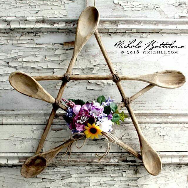 DIY Kitchen Witch Pentagram <3 :) ~Frisky //blog.pixiehill.com ... on witch potion labels, cowboy kitchen ideas, witch kitchen decor, pumpkin kitchen ideas, haunted kitchen ideas, decorate kitchen ideas,