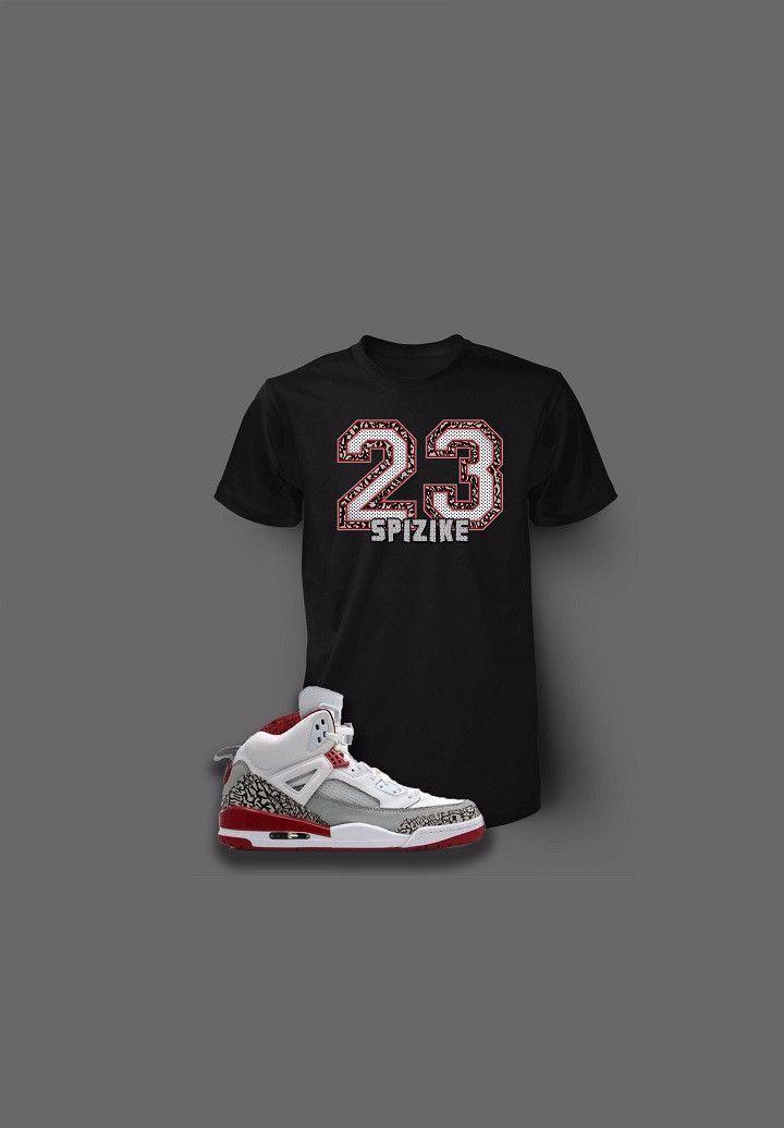 05cbeb0909b2f1 Custom 23 Pro Club Graphic T Shirt To Match Retro Air Jordan Spizike White  Cement Shoe