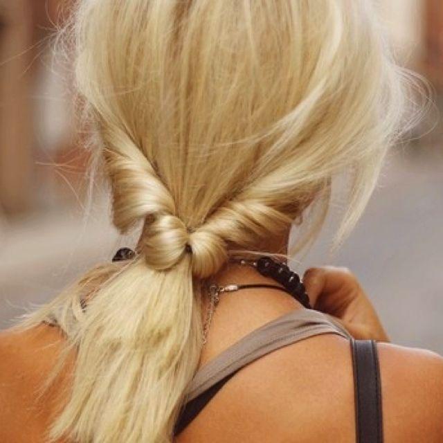Undertucked ponytail!