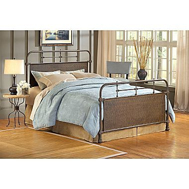 Jcp Elliot Old Rust Metal Bed Or Headboard Hillsdale Furniture Metal Beds