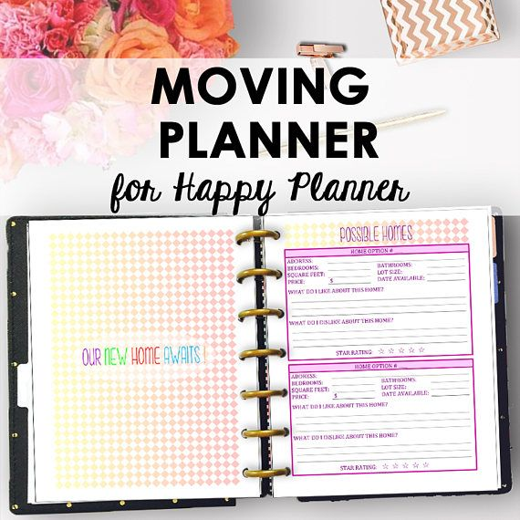 Happy Planner Moving Printable Moving Planner Checklist Packing