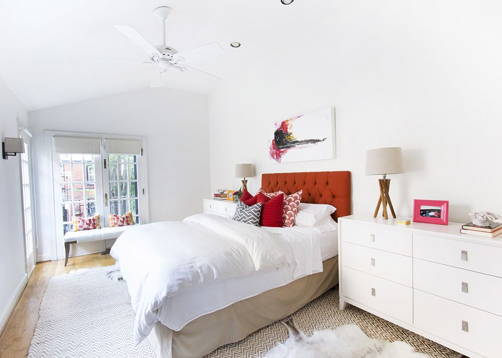 LOVE the white with pops of color and natural textures | jana bek design