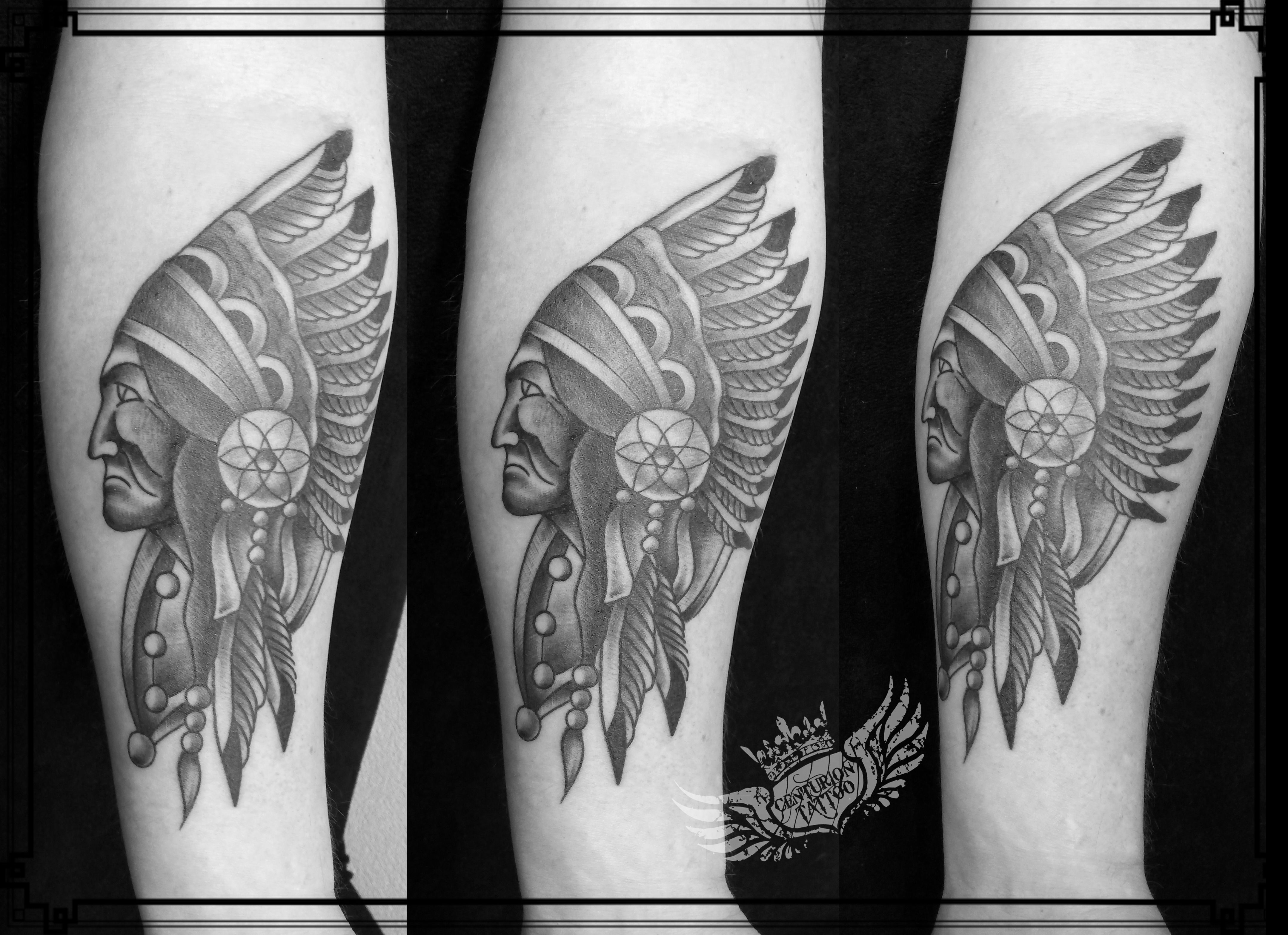 Indian with eagle and wolf tattoo on shoulder tattooimages biz - Indian Chief Traditional Tattoo 100 Old School