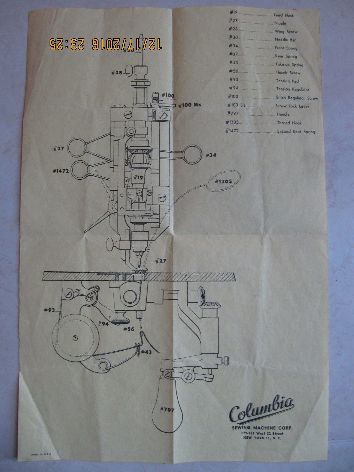 1 Cornely Embroidery A Machine Front Parts Single Page Ebay