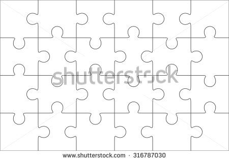 Jigsaw Puzzle Blank Template X Elements Twenty Four Puzzle