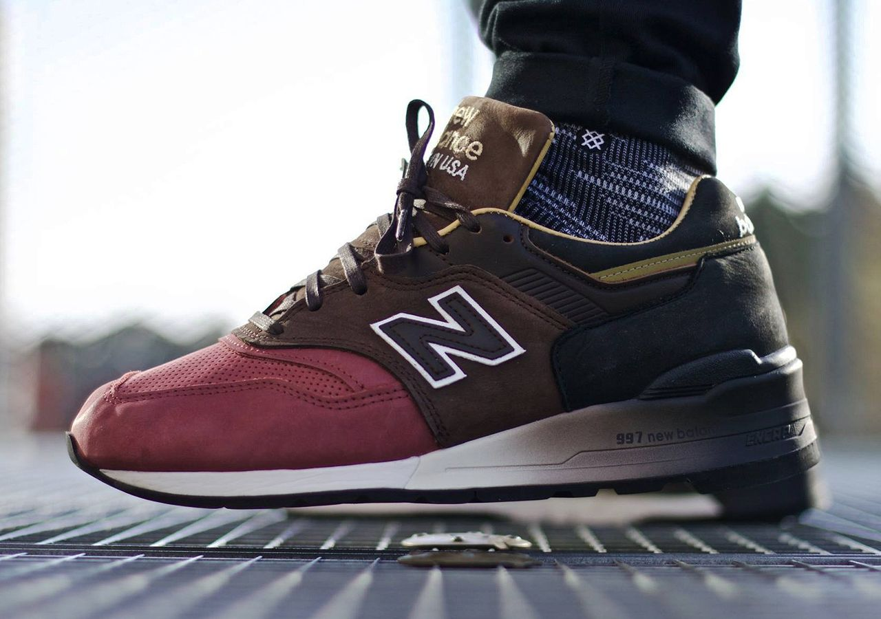 best sneakers bdaf7 f233b New Balance 997DWB  Home Plate Pack  - Black Brown Burgundy - 2017 (by Fred  Adam)