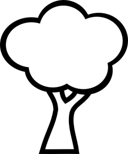 Tree Clipart Black And White 1000 Exclusive Cloud Clipart Tree Coloring Page Easy Coloring Pages Coloring Pages For Kids