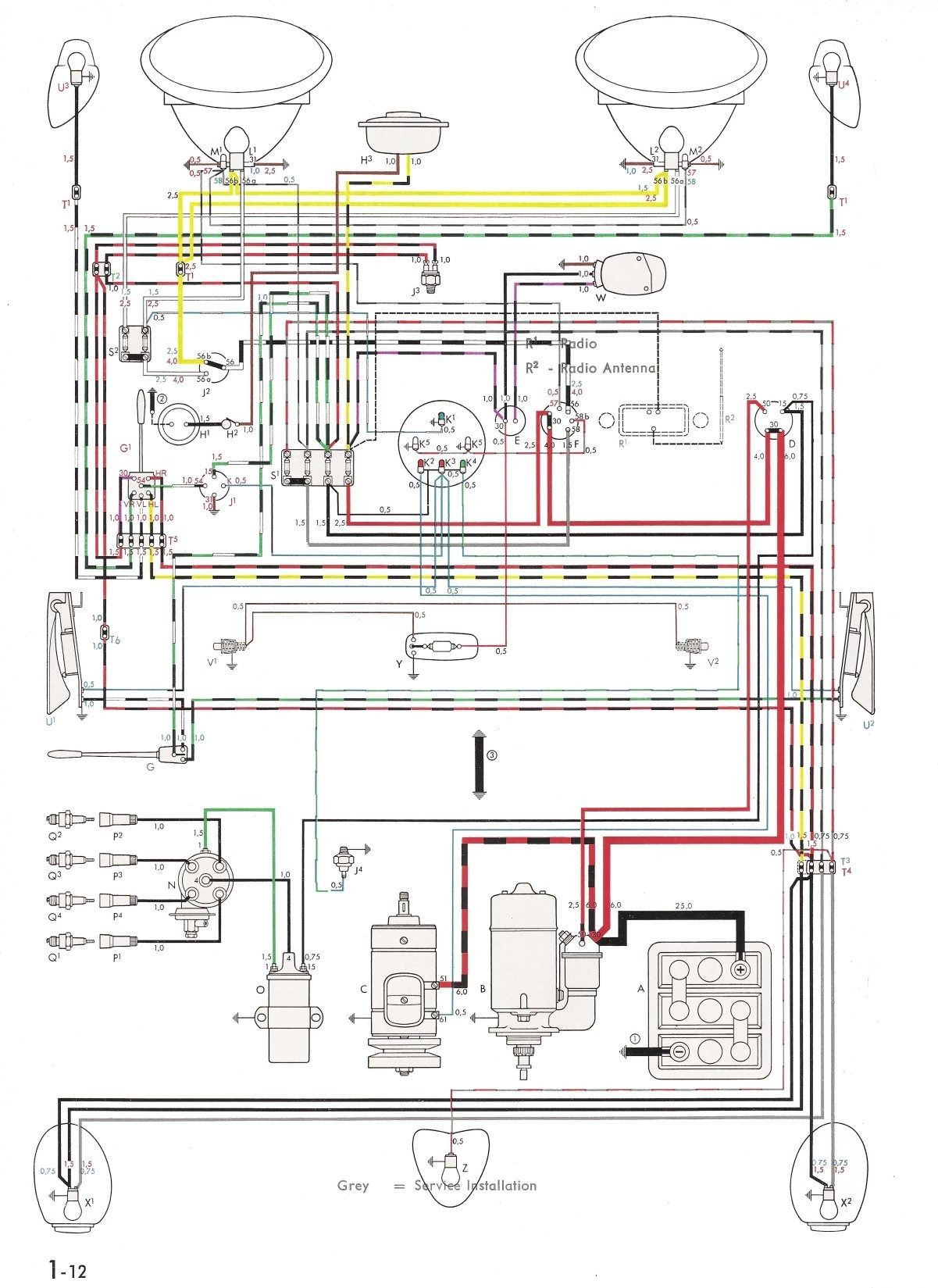 small resolution of vw bug 12 volt wiring diagram wiringdiagram org
