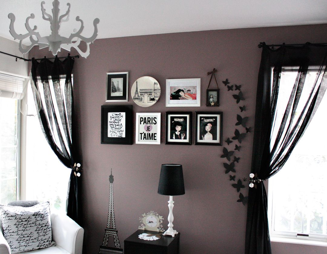 Black bedroom ideas inspiration for master bedroom for Grey wall ideas