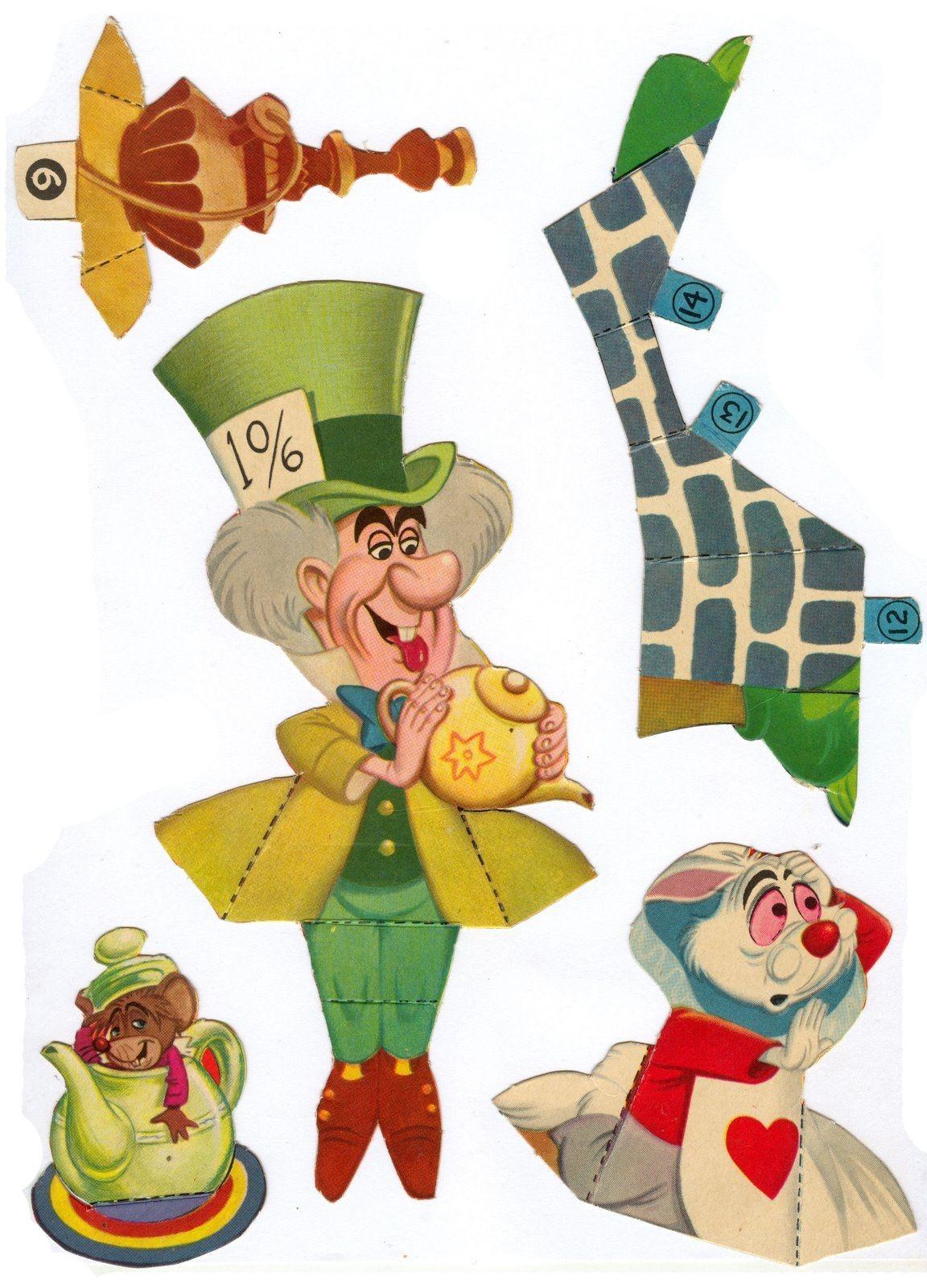 Vintage Free Printable Alice In Wonderland Paperdolls