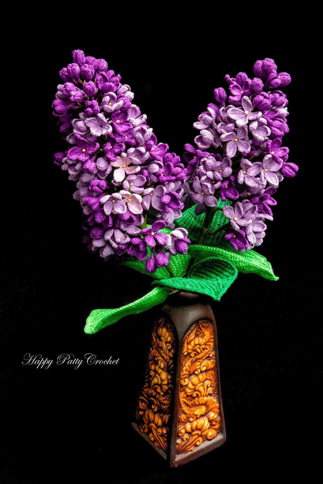 Lilac Flower In 2020 Crochet Flower Patterns Crochet Flowers Crochet Plant