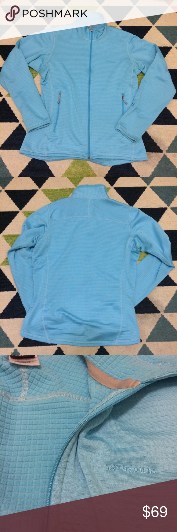 Patagonia Blue R1 Full Zip Jacket Sweater Patagonia blue