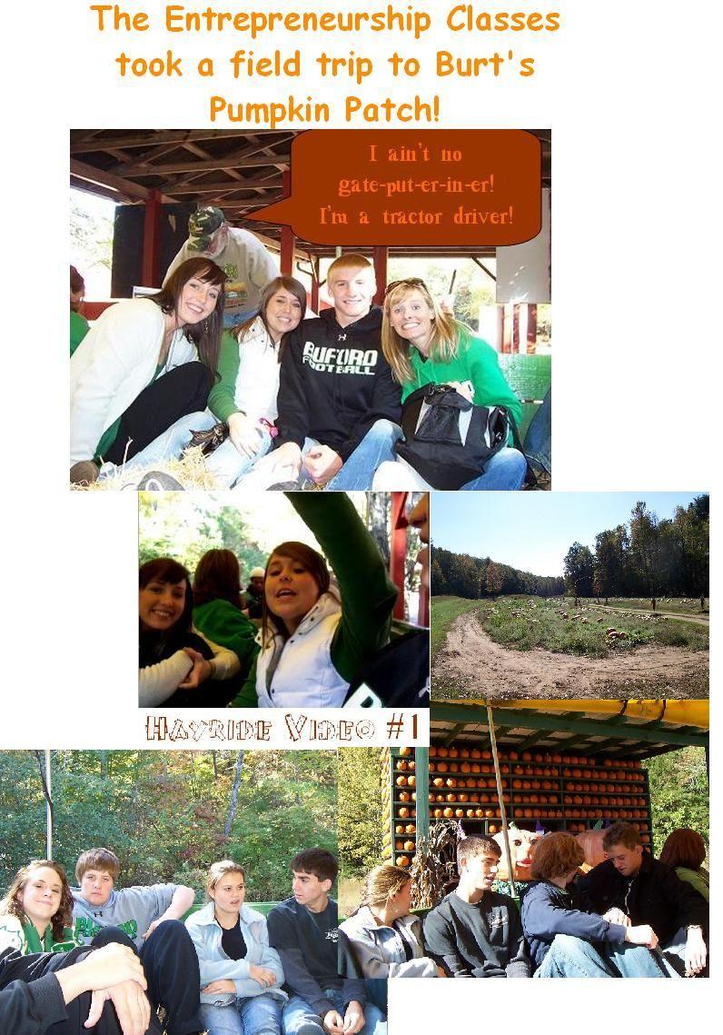 Burt's Pumpkin Farm field trip 2007 Field trip