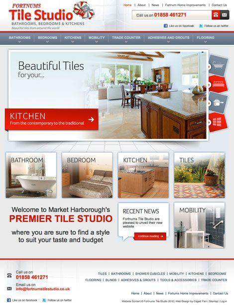 Fortnum Tile Studio Web Design Marketing Design Market Harborough