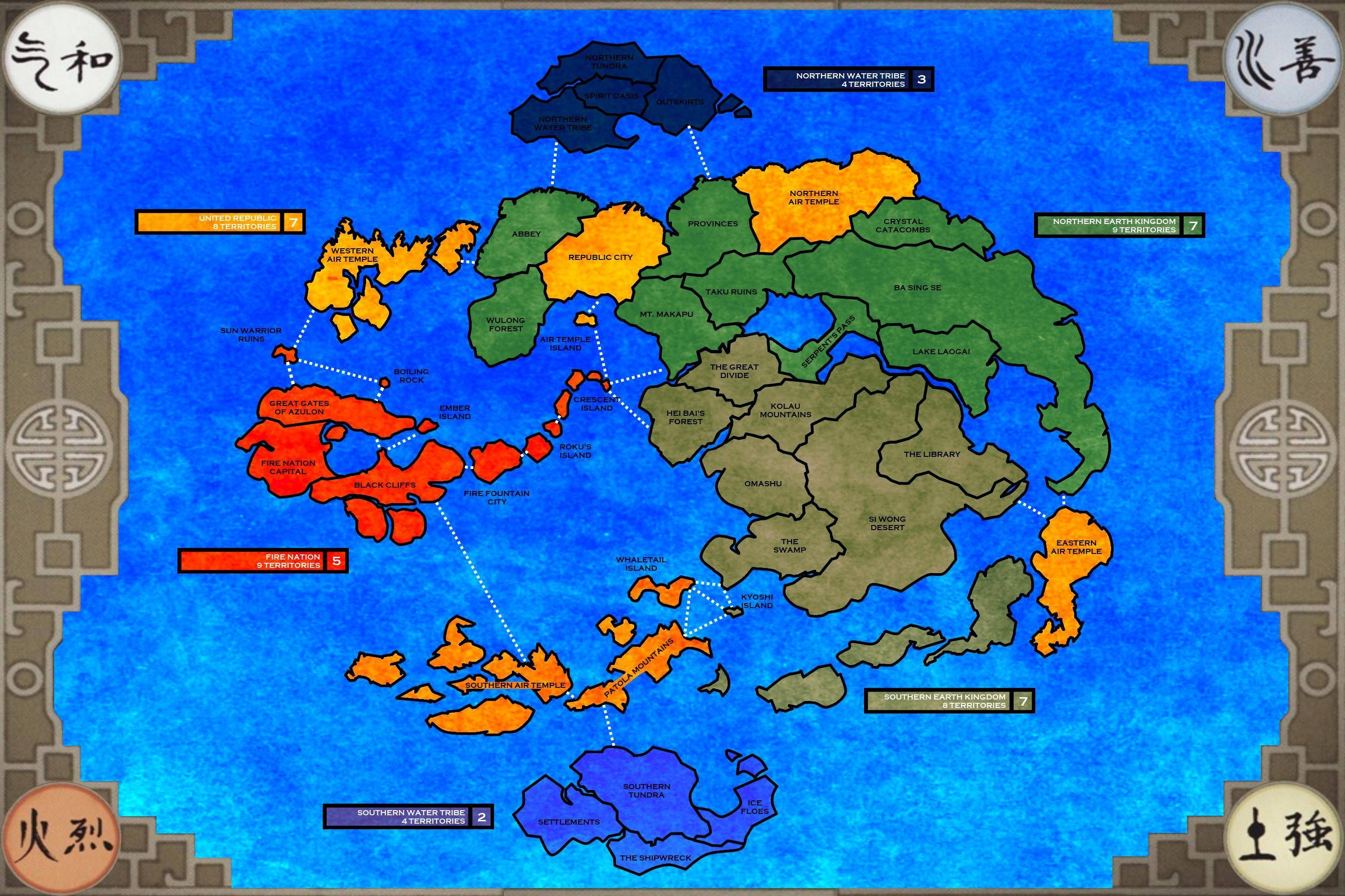 Avatar Risk Map | Avatar TLA...aka the BEST animated series EVER ...