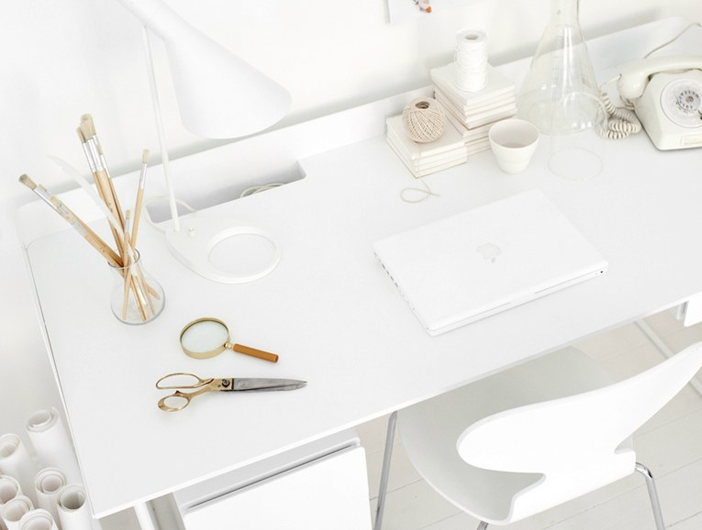 My Scandinavian Home A Beautiful Office In White And Light Wood