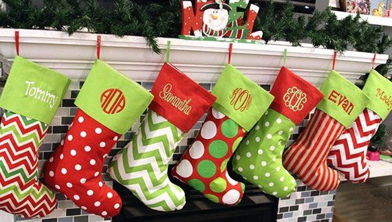 Christmas Stockings, 19 Patterns, Embroidered, Personalized Stocking