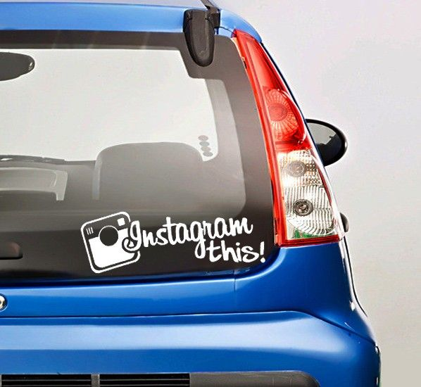 Precision Turbo Decal: Instagram This Car Vinyl Decal Sticker White Color 7.5 X 3