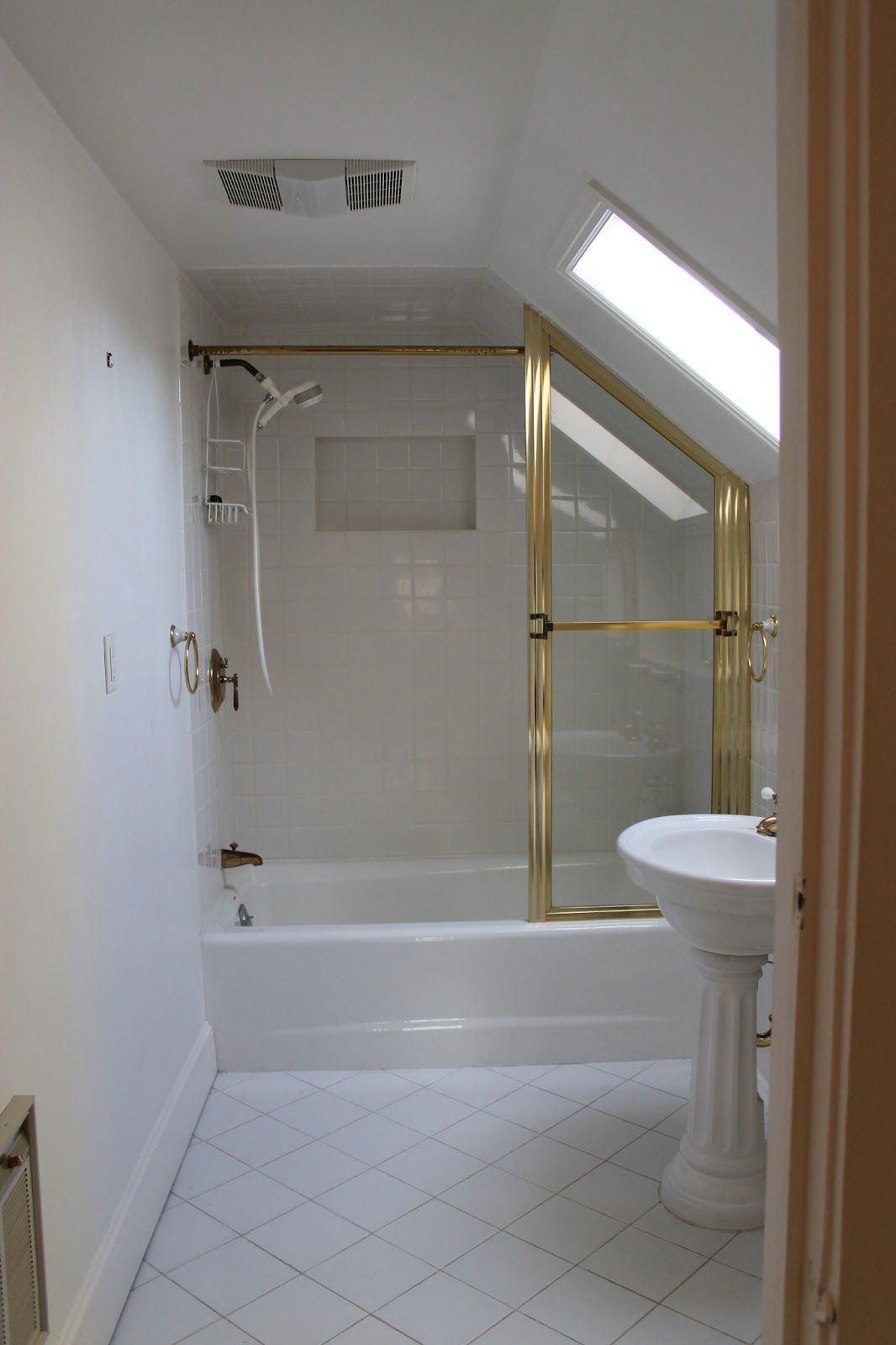 The Picket Fence Projects Goodbye Gold Shower Door Decor