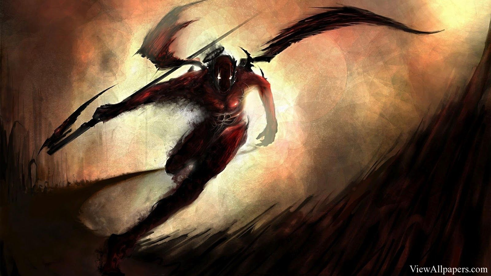 Anime dark warrior wallpaper art