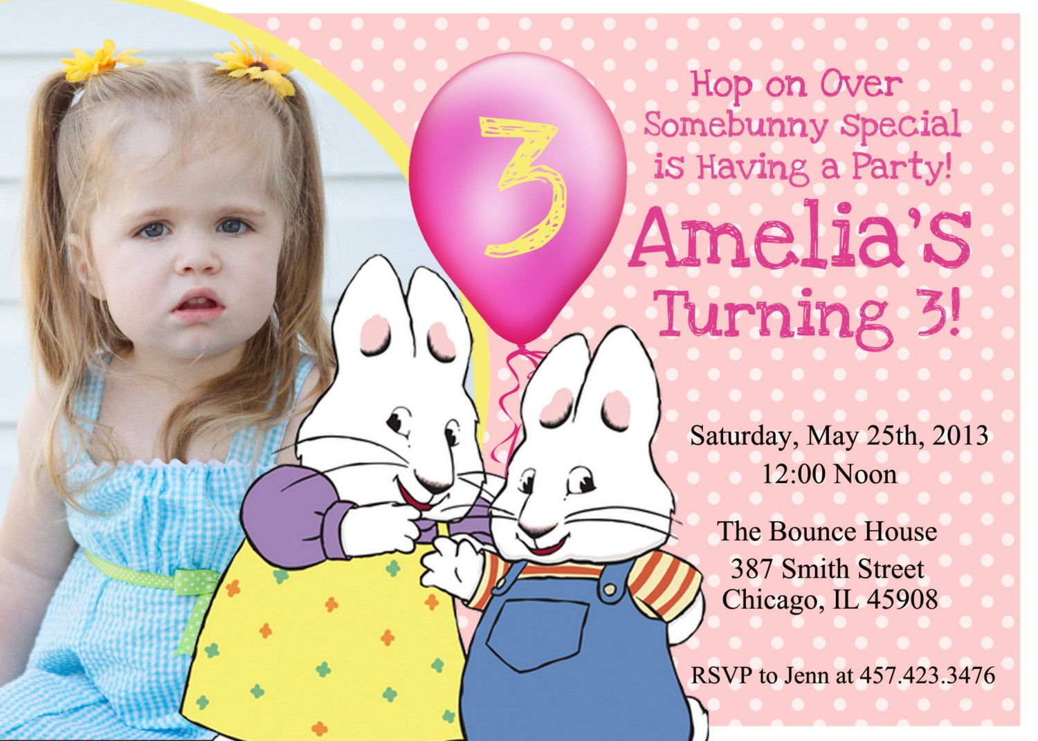 Max And Ruby Birthday Party Invitation By