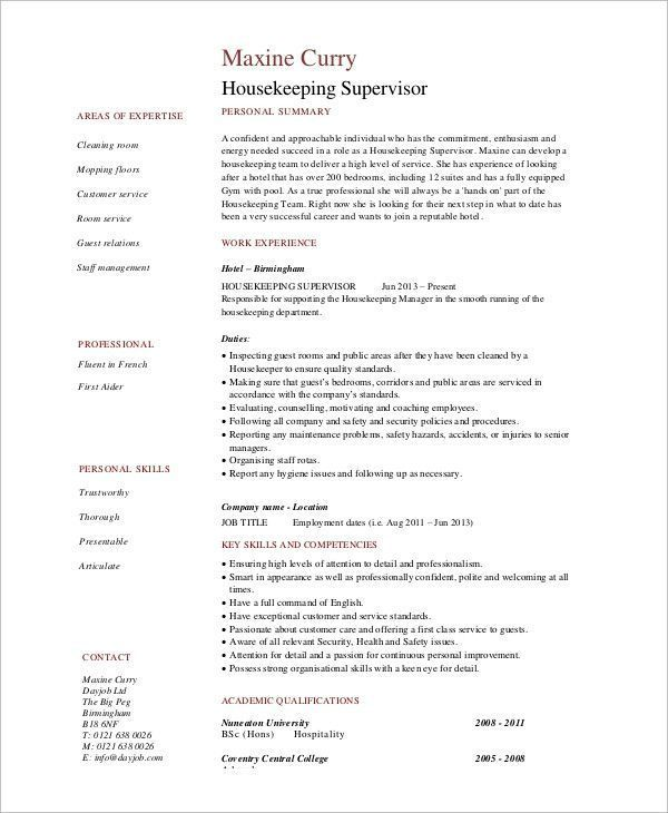 Housekeeping Summary For Resume Stylish Sample Housekeeping Resume 7 Examples In Word Pdf Of 36 Perfect Housekee With Images Resume Examples Resume Summary Examples Resume