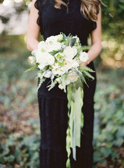 Elegant ribbon bouquets: http://www.stylemepretty.com/collection/3444/