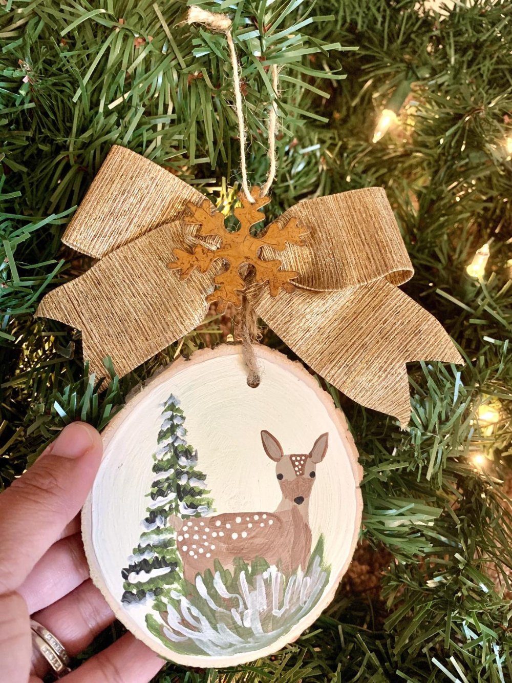 Christmas Ornaments Wood Slice Ornament Hand Painted Etsy Wood Slice Ornament Christmas Ornaments Wood Christmas Ornaments