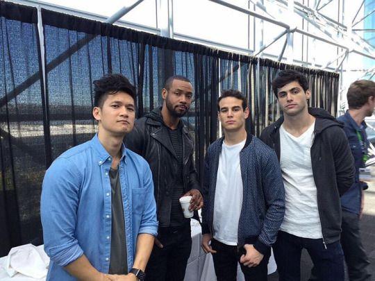 Our main men, minus Dominic. Looking tough.