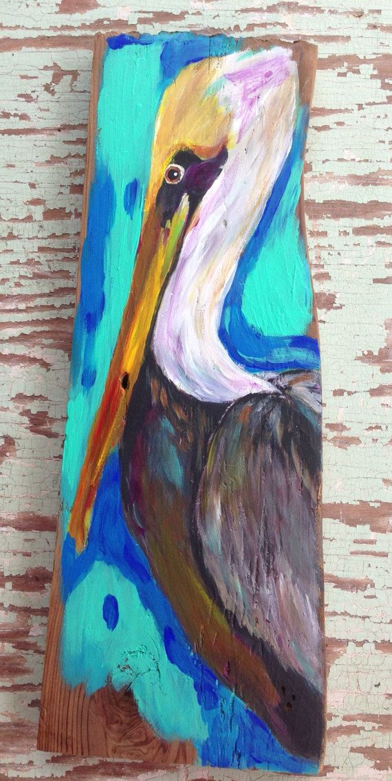 Louisiana Pelican On Reclaimed Wood Etsy 58 00