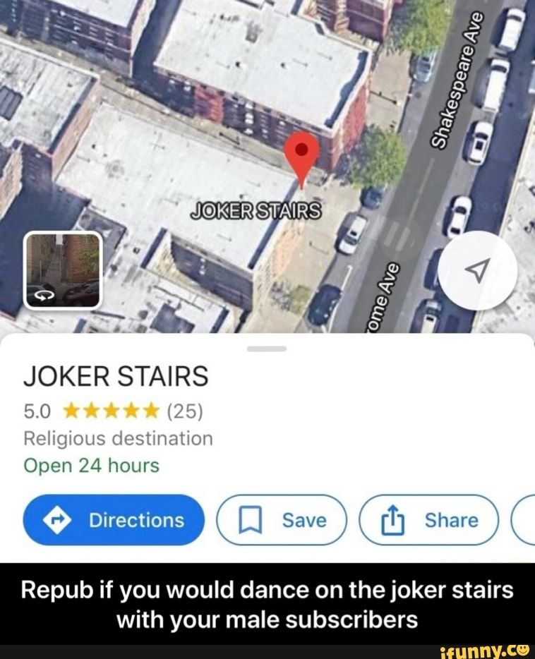 Repub if you would dance on the joker stairs with your