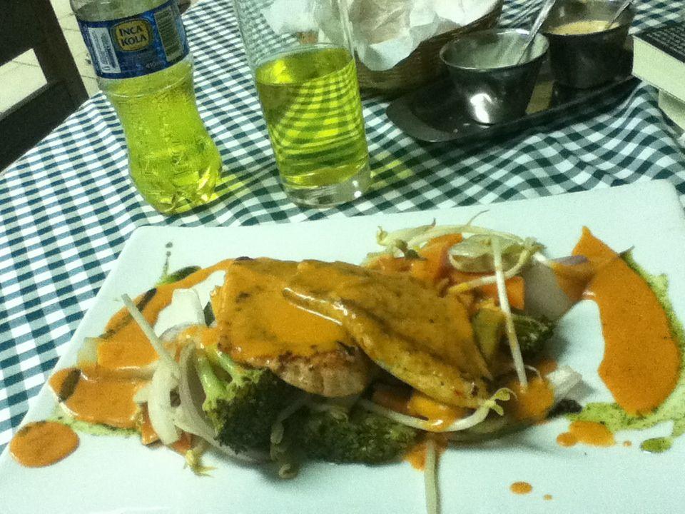 Comida peruana en el Ají seco