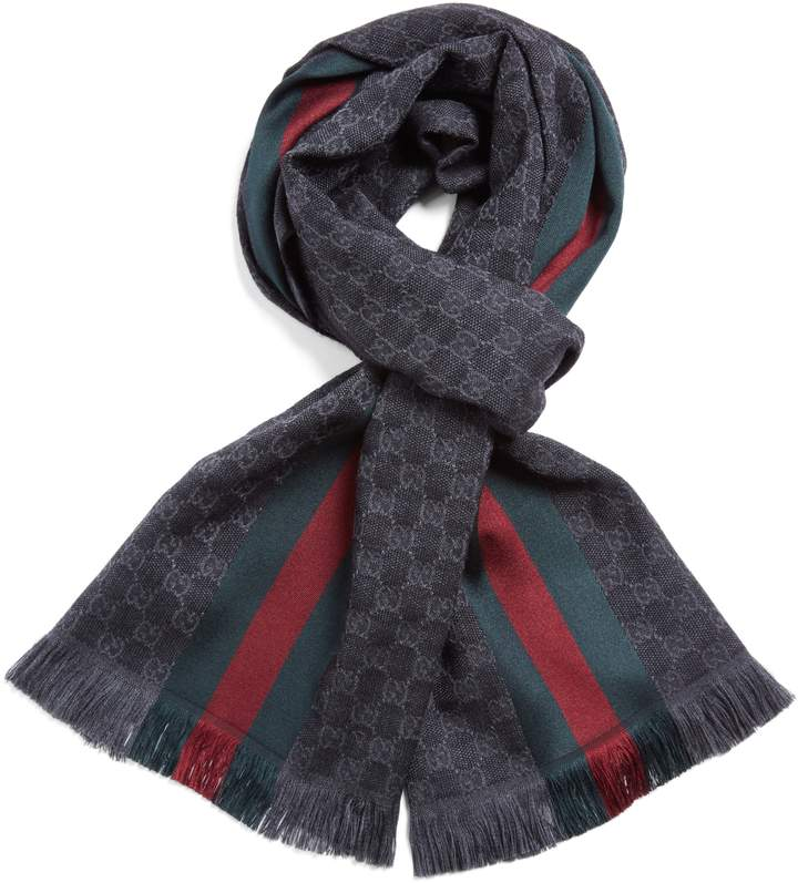 5bfb42b4264 Gucci Verbier Wool & Silk Scarf, 2019 | All about Alexandros | Gucci ...