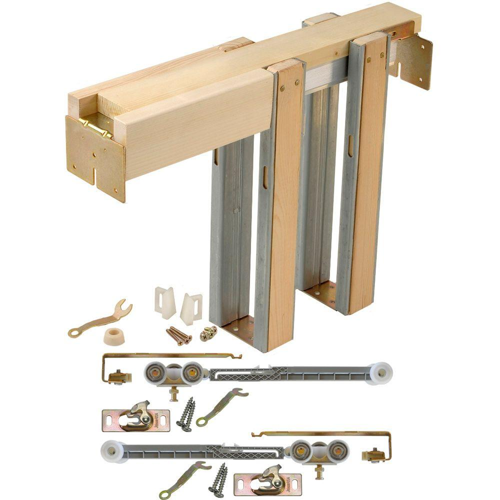 Johnson Hardware Soft Close And Open 1500 Series 28 In To 36 In X 80 In Universal Pocket Door Frame For 2x4 Stud Wall 153068sc Pocket Door Installation Pocket Doors Pocket Door Frame