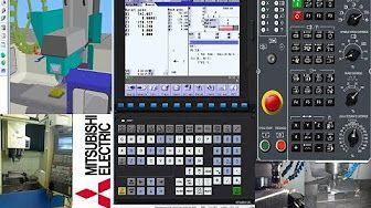 CNC Simulator Mitsubishi M70 milling - YouTube | CNC Simulator
