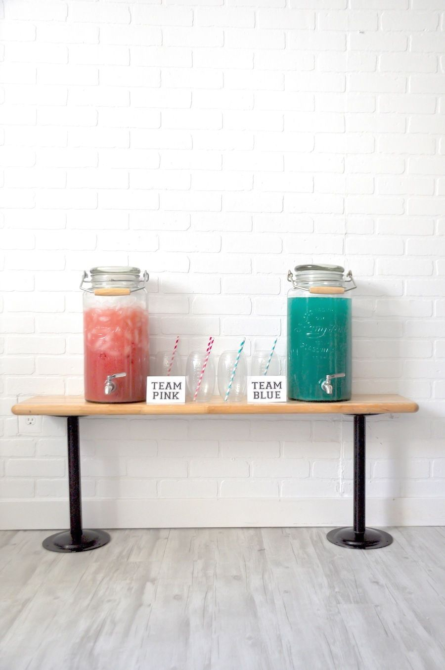 Pink And Blue Drink Recipe For Gender Reveal Baby Shower