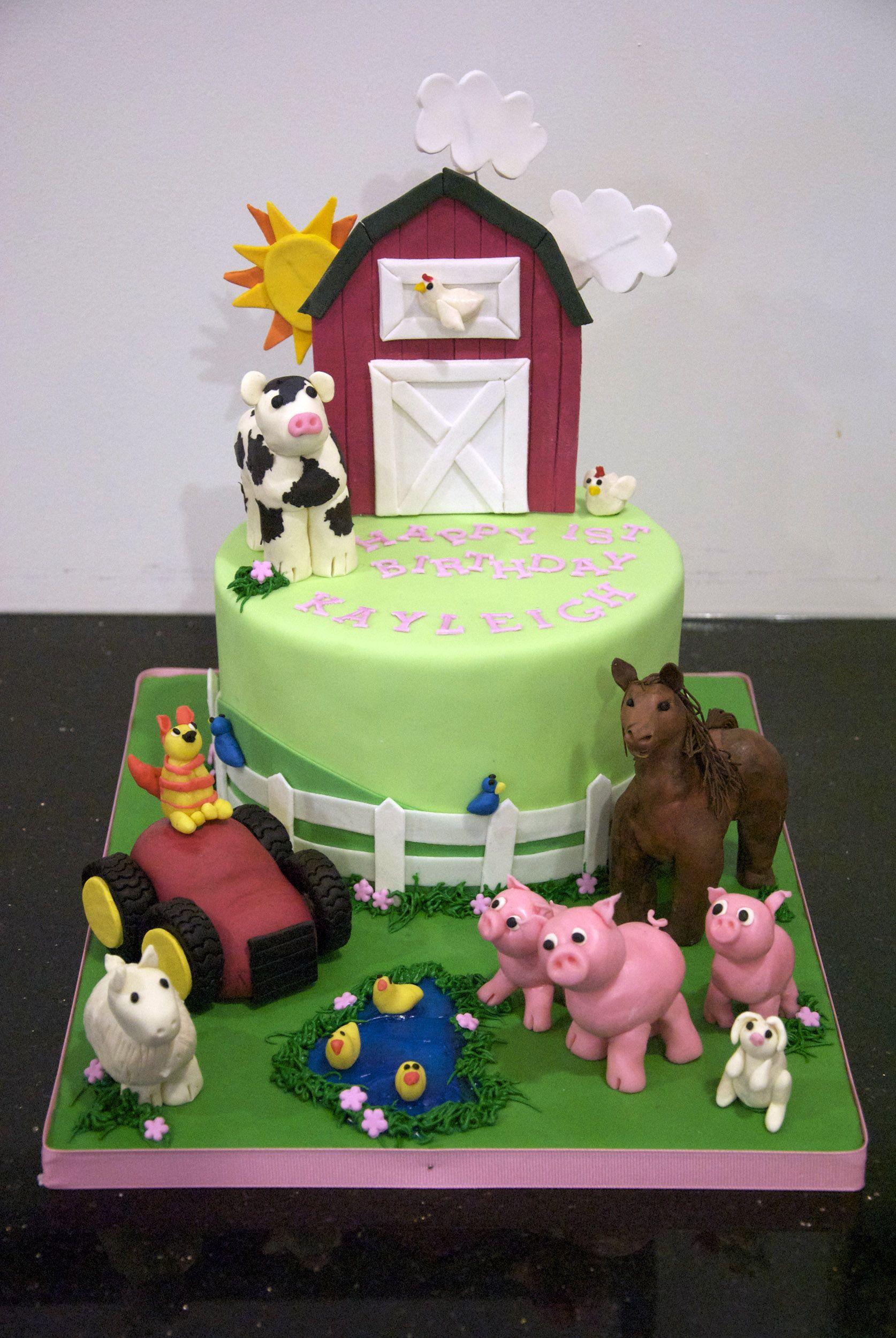 Great Ideas For Kid S Birthday Cakes Girl Farm Cake