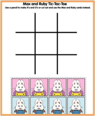 Play Tic-Tac-Toe with Max and Ruby! | Bunny Cakes | Pinterest