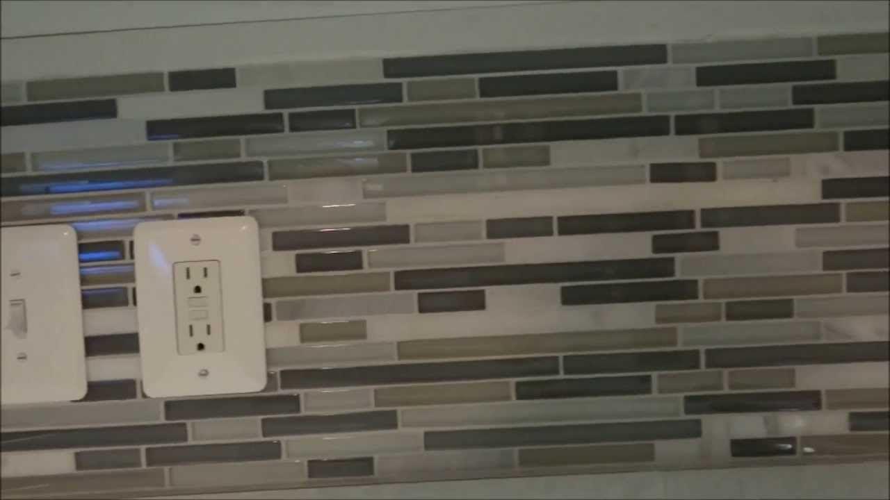 Detailed How To Diy Backsplash Tile Installation Youtube Tile