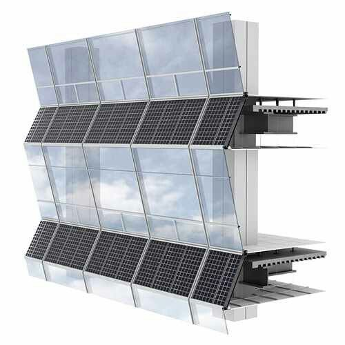 Curtain Wall With Integrated Solar Panel Detail Facade Architecture Sustainable Architecture Facade