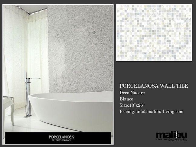 Wall Tile:PORCELANOSA®Malibu Living Home Deco Nacare Size:13\