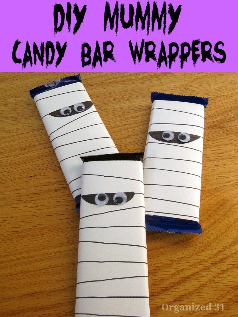 Diy Mummy Candy Bar Wrapper Halloween Candy Bar Wrappers