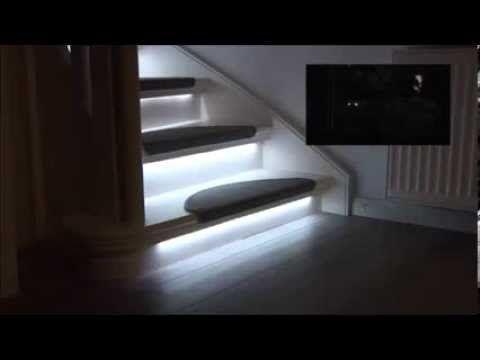 Kit Eclairage Escalier Led Progressif Disponible Sur Materiel Hi Tech Fr Youtube Eclairage Escalier Decor Salon Maison Deco Escalier
