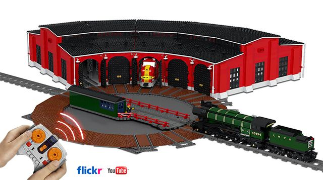 LEGO Ideas - Train Turntable and Roundhouse | Lego trains