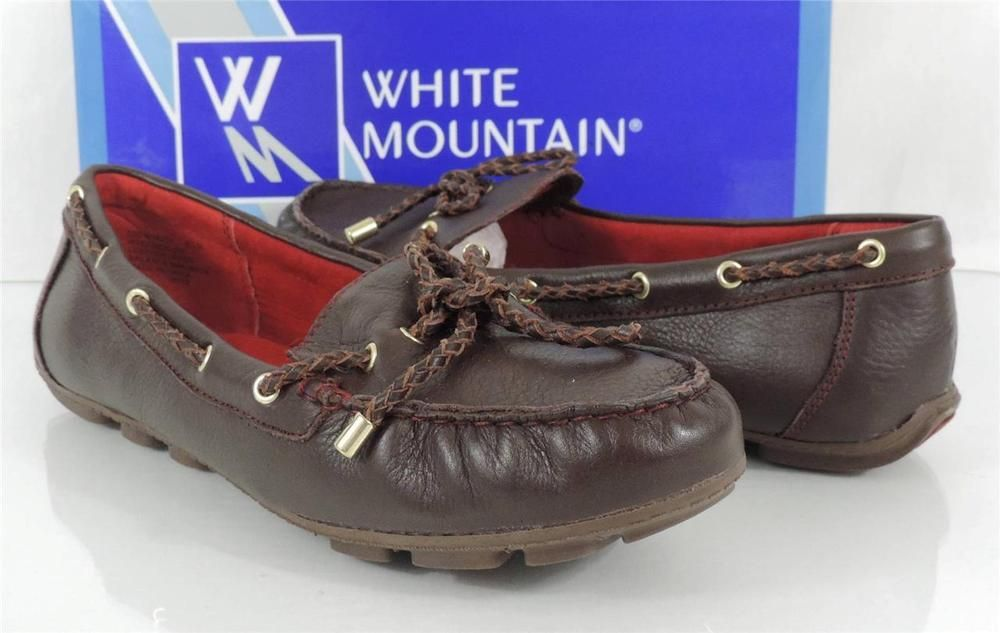 410742bf1b5 Women s Shoes White Mountain SURF Loafer Driving Moccasin Brown Size 8.5   WhiteMountain  LoafersMoccasins